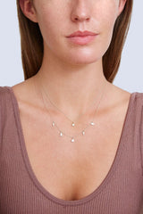 14k Gold Star Necklace with Diamond Inlay
