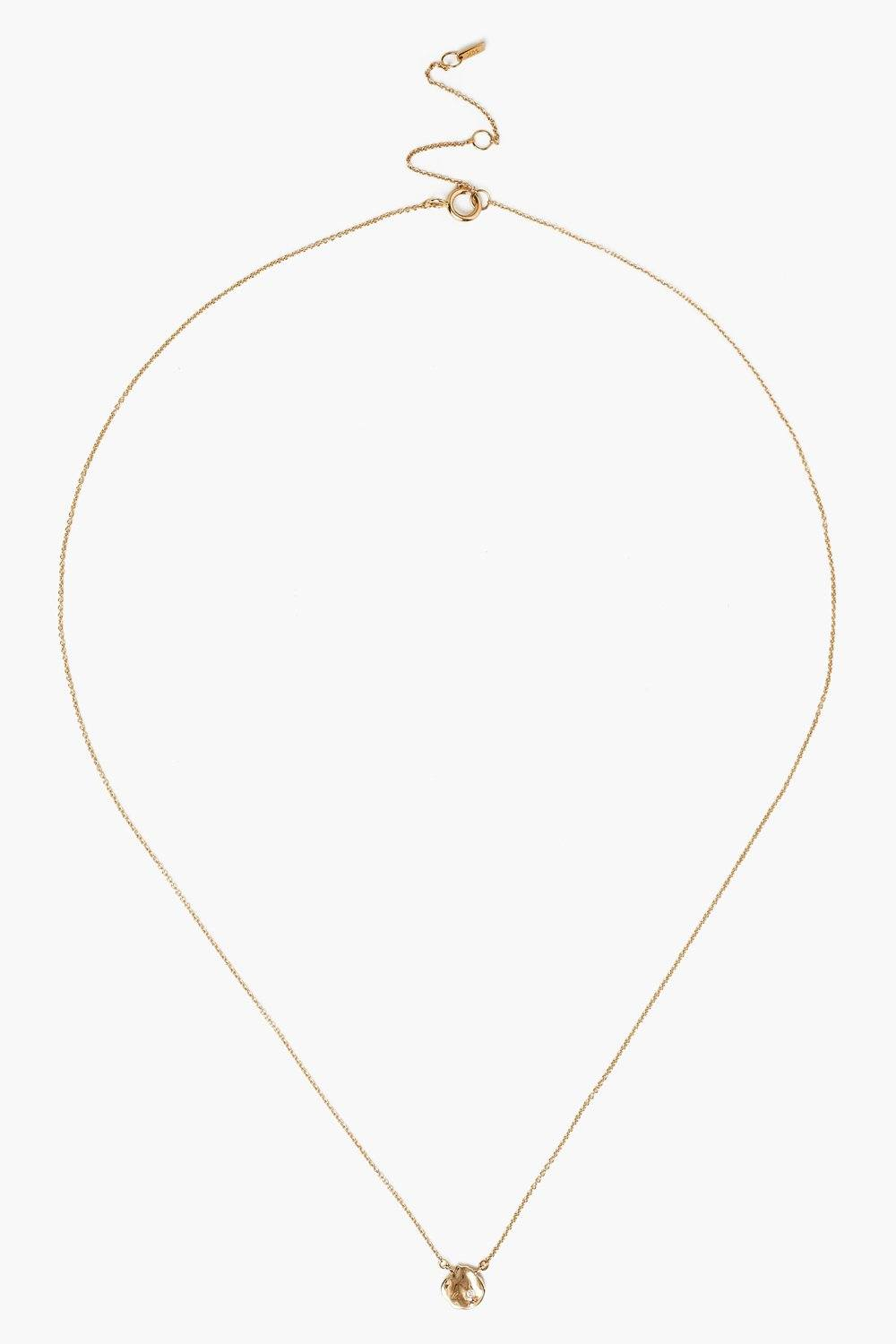 14k Gold Coin and Diamond Necklace