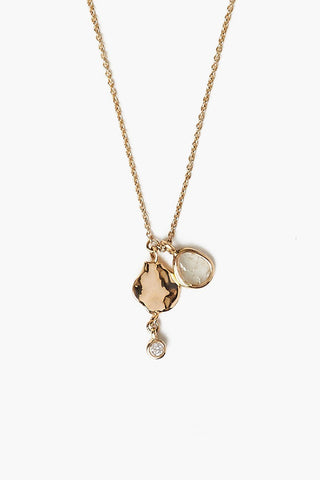 14k Gold Diamond Charm Necklace