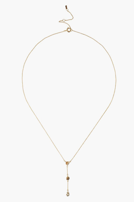 14k Gold Diamond Triple Lariat Necklace