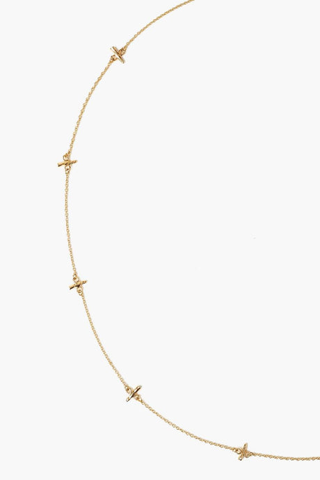 14k Gold Notch Necklace