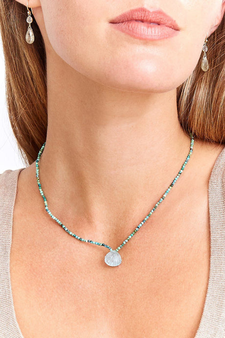 14k Aquamarine La Plage Necklace