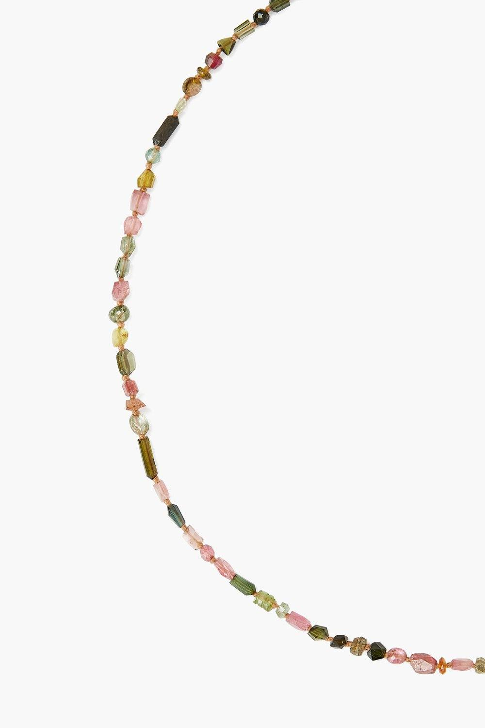 14k Watermelon Tourmaline Necklace