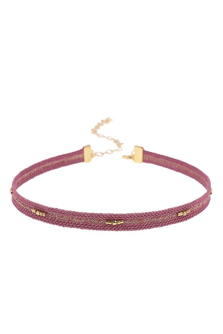 Mauve Braided Choker