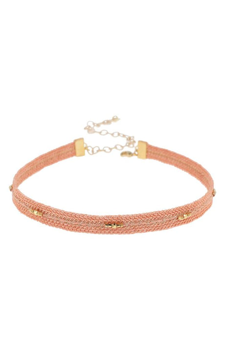 Peach Braided Choker