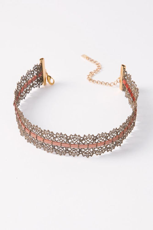 Bronze Mix Lace Choker