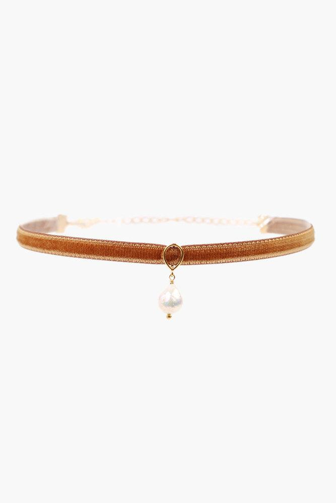 Gold Mix Pearl Choker
