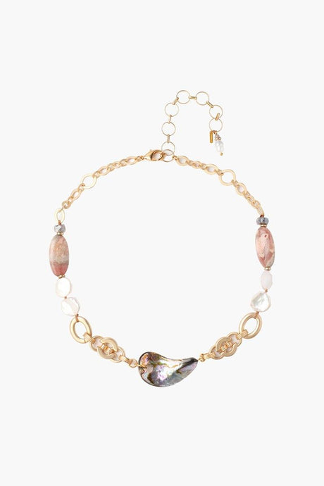 Abalone Mix Statement Necklace