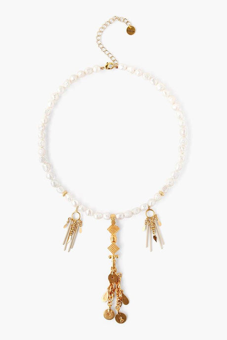White Pearl Paloma Necklace