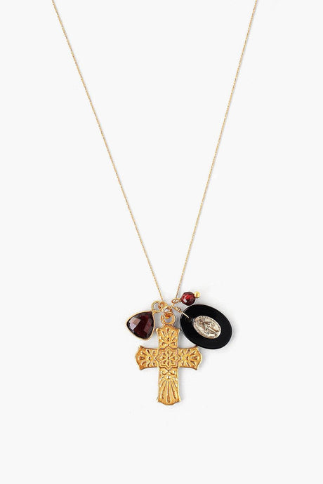 Onyx Mix Donna Charm Necklace