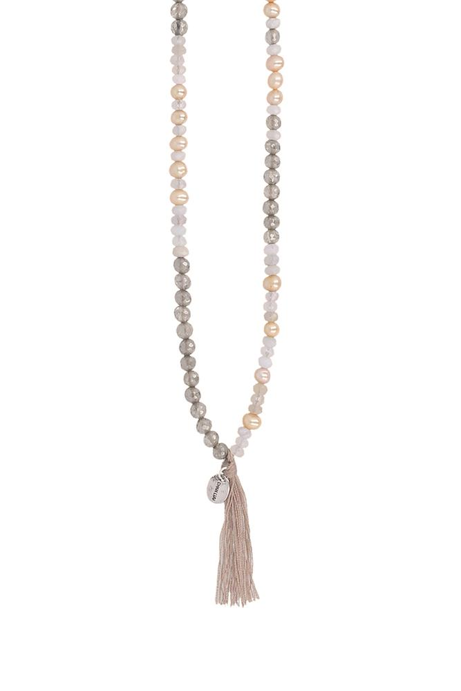 Mystic Smoky Mix Tassel Necklace