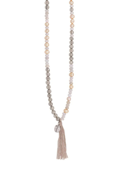 Mystic Smokey Mix Tassel Necklace