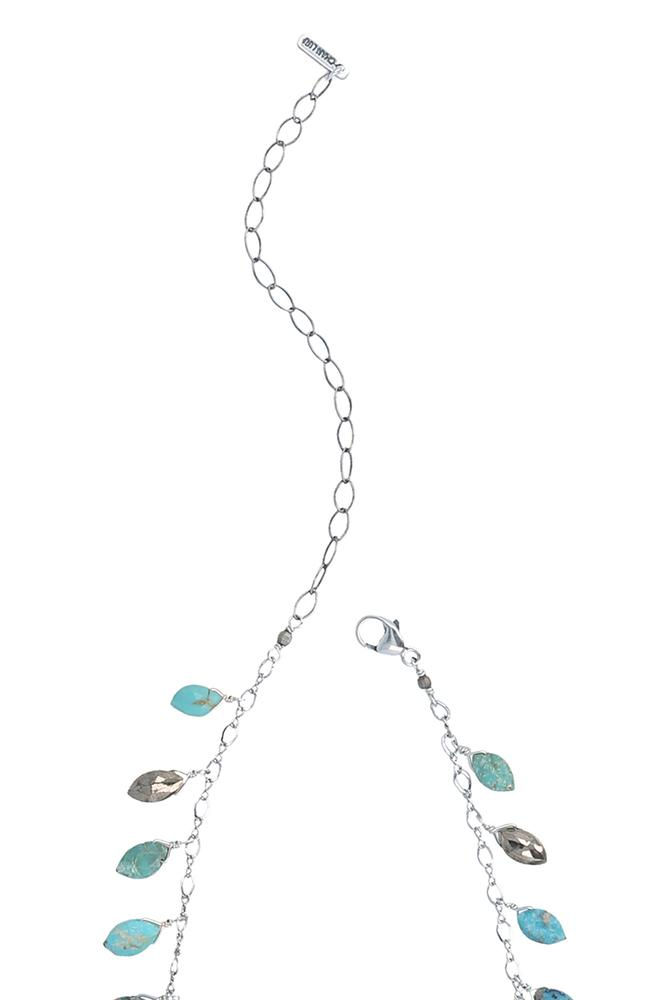 Turq Mix Swing Necklace