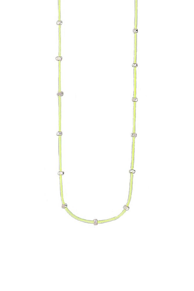 Sunny Lime Bead Necklace
