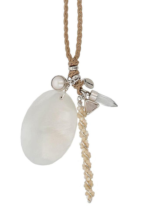 White Mix Layering Charm Necklace