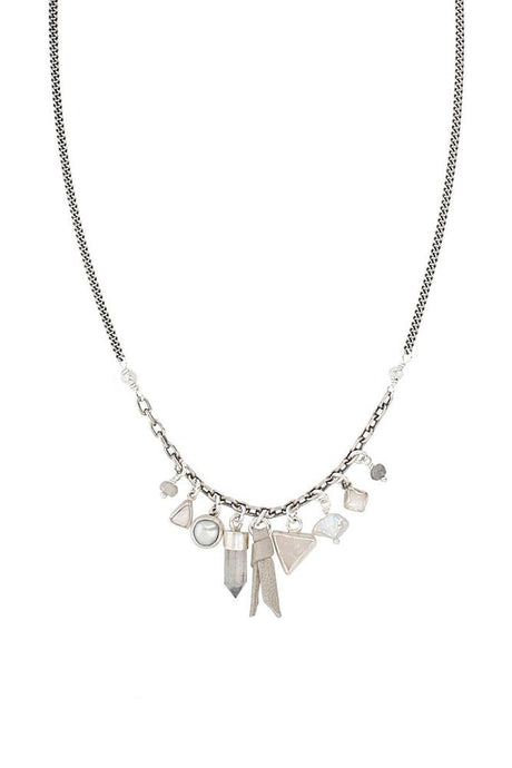 Grey Charm Necklace