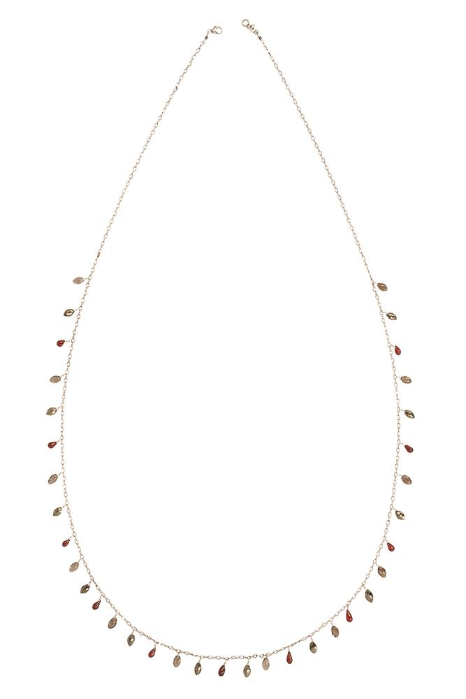 Garnet Mix Marquise Layering Necklace