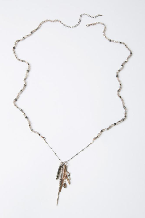 Mystic Labradorite Mix Charm Necklace