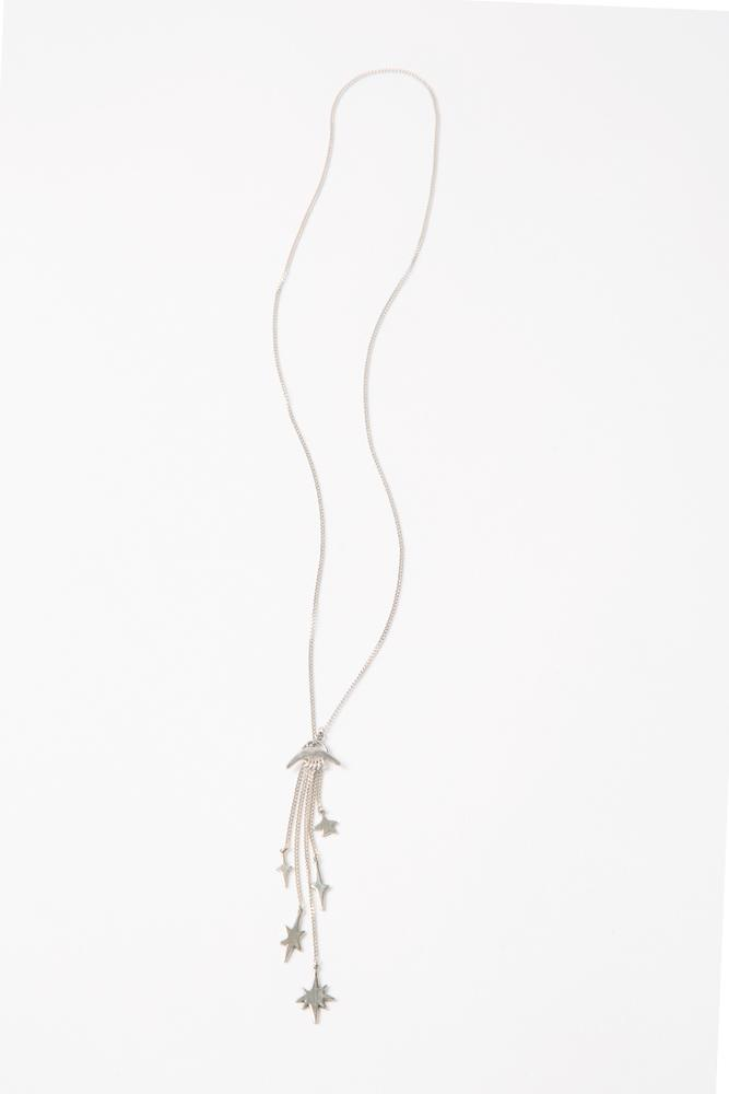 Silver Fringe Star Necklace