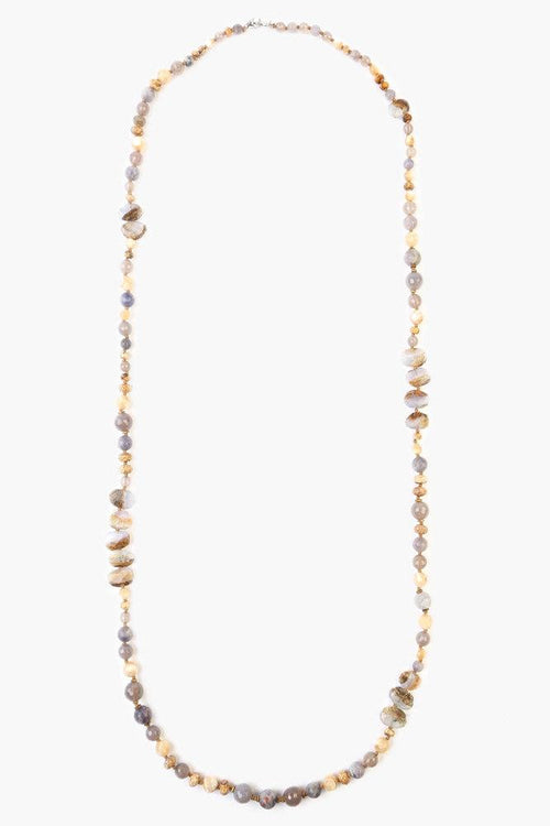 Matte Iolite Mix Beaded Strand Necklace