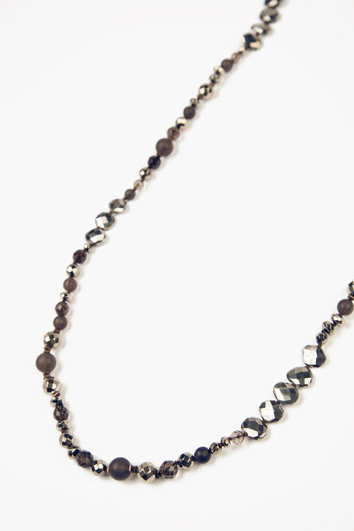Smokey Quartz Mix Beaded Strand Necklace