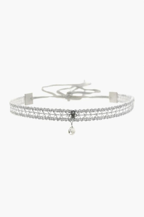 White Mix Adjustable Choker