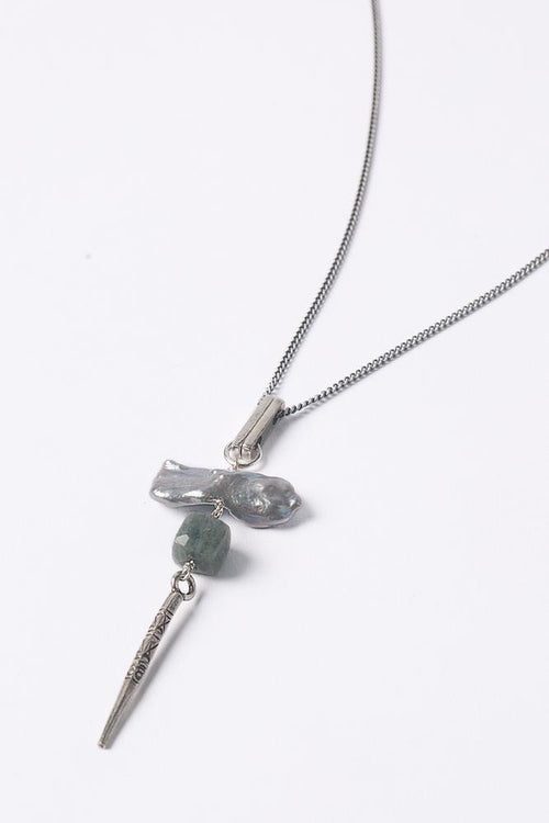 Grey Mix Dagger Necklace