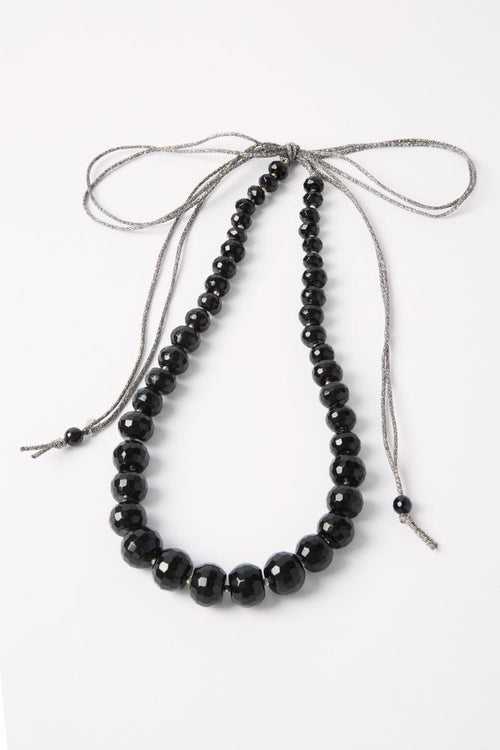 Black Mix Adjustable Statement Necklace