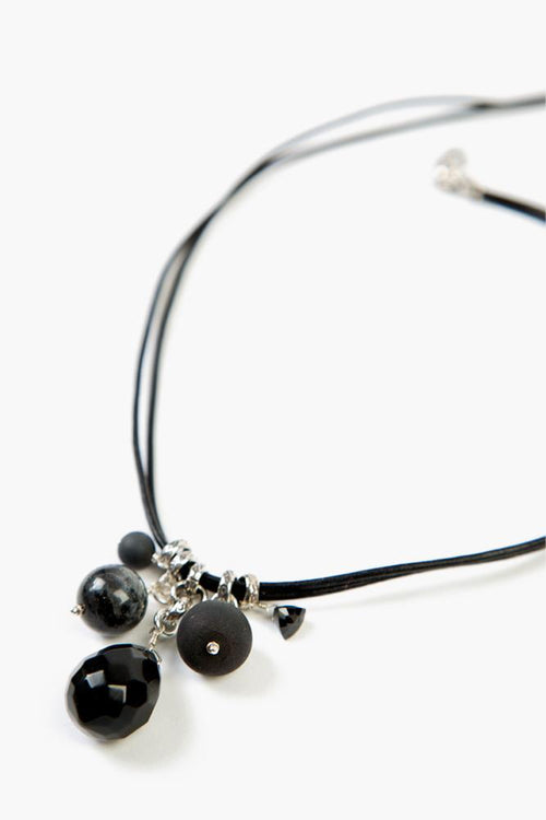Onyx Mix Charm Necklace