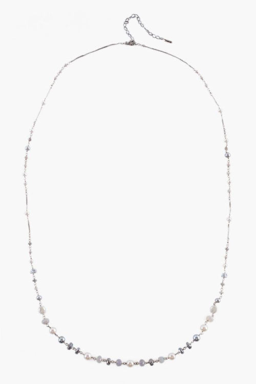 Grey Pearl Mix Layering Necklace