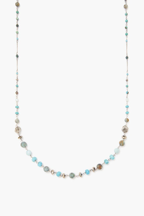 Turquoise Mix Beaded Layering Necklace