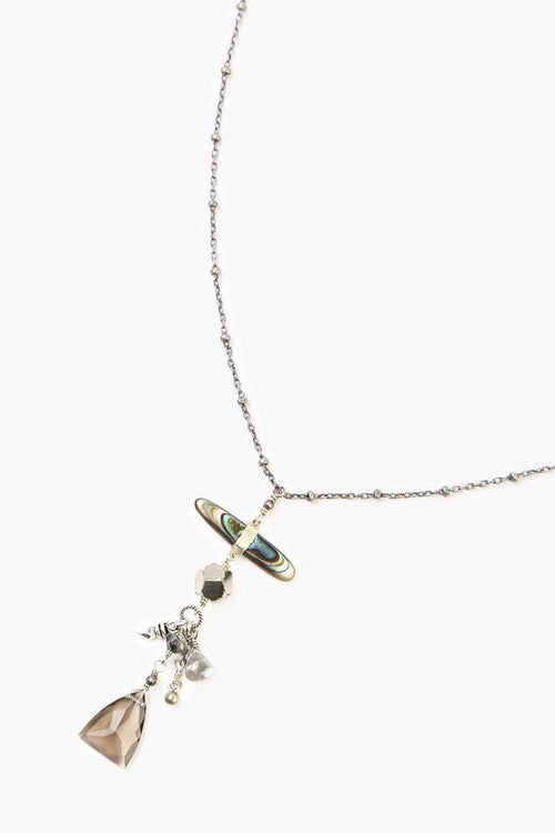 Abalone Mix Adjustable Charm Necklace