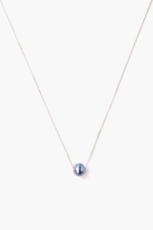 Peacock Blue Pearl Pendant Adjustable Long Necklace