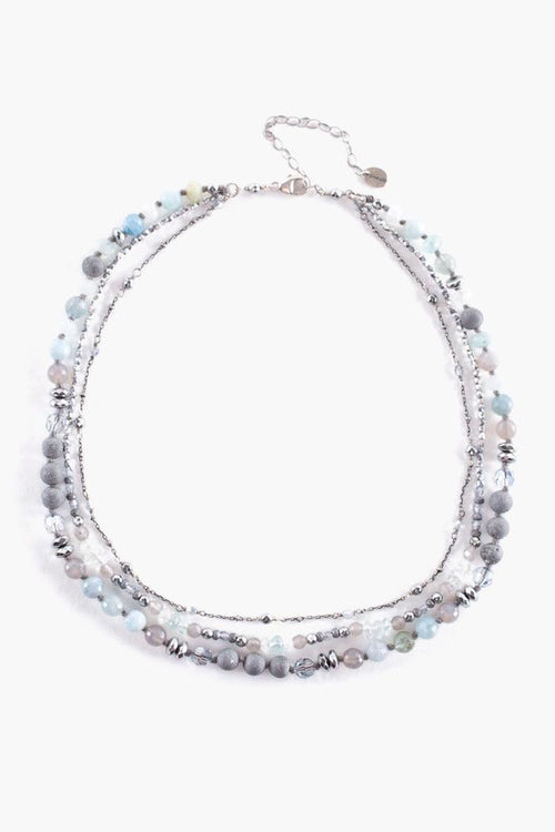 Aqua Mix Layered Necklace