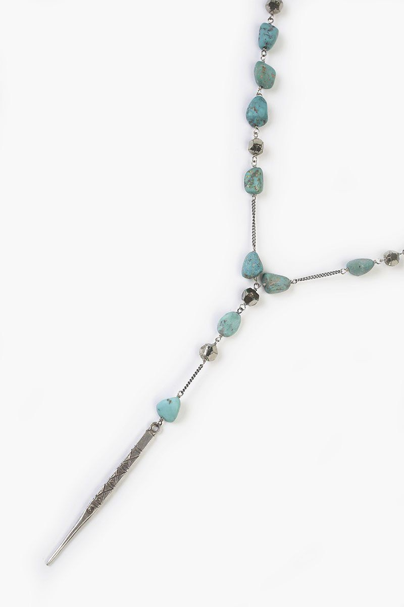 Turquoise Mix Dagger Layering Necklace