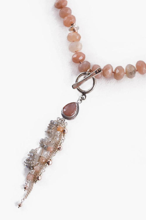 Sunstone Adjustable Statement Necklace