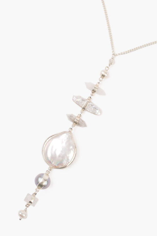White Mabé Pearl Mix Tiered Necklace
