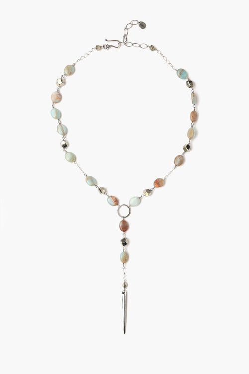 Aqua Terra Mix Stone Short Adjustable Necklace
