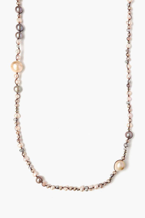 Pink Mix Pearl Necklace
