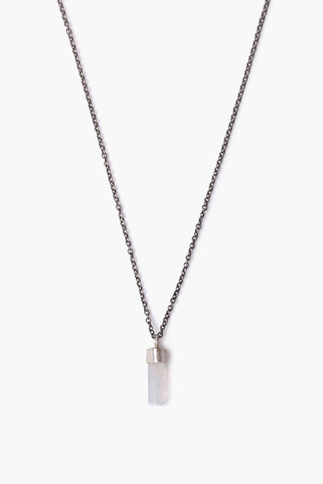 Moonstone Baguette Pendant Necklace