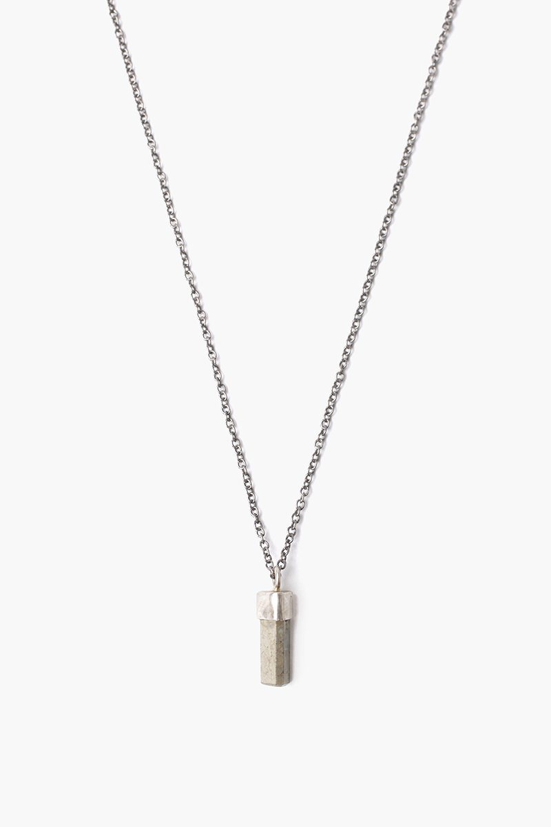 Pyrite Baguette Pendant Necklace