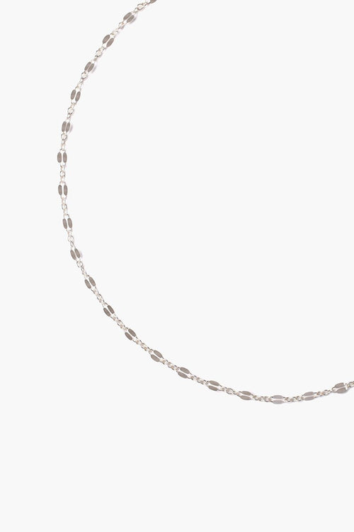 Silver Beaded Short Necklace