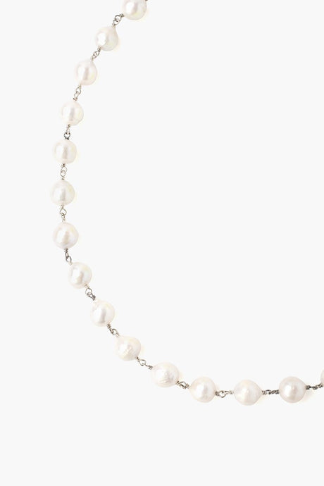 White Baroque Pearl Short Necklace