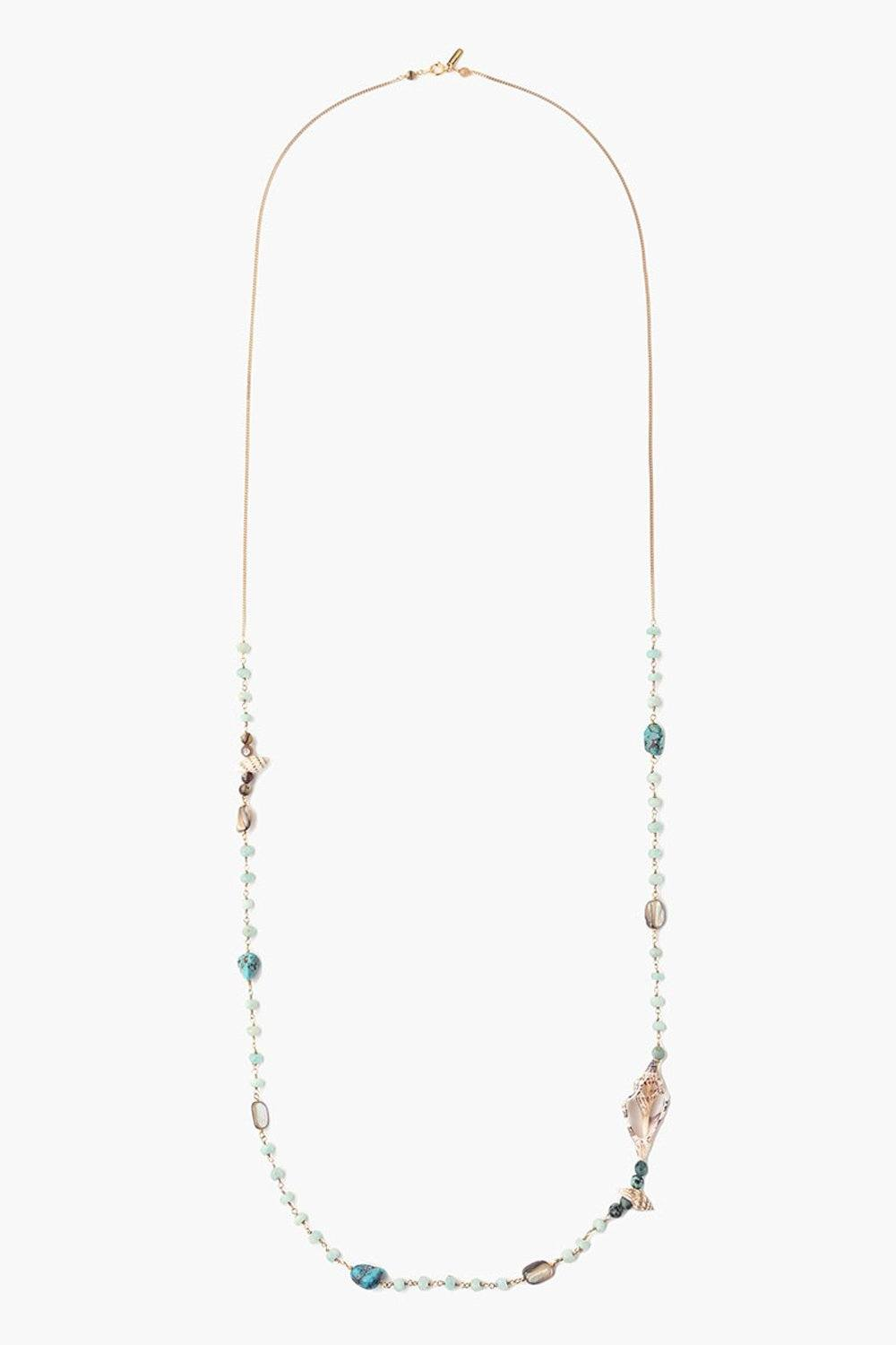 Amazonite Mix Sea Shell Necklace