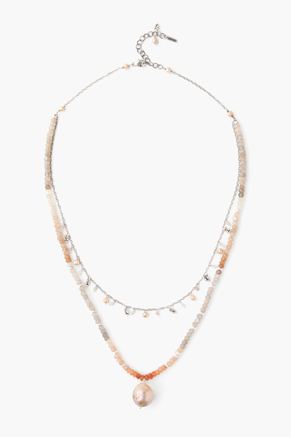 Peach Mix Pre-Layered Necklace