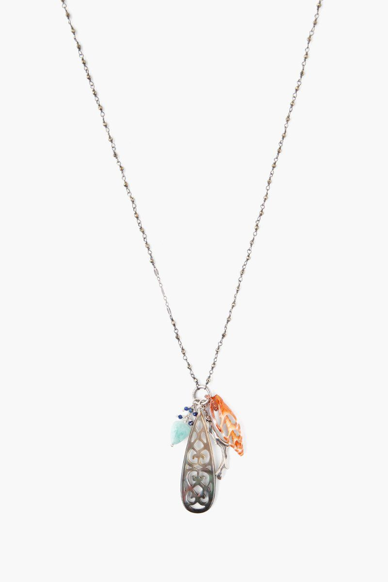 Blue Mix Sea Charm Midi Necklace