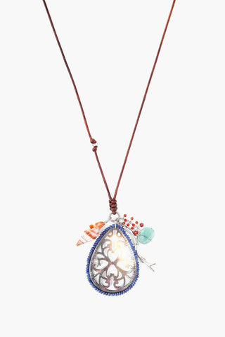 Saddle Mix Coin Charm Necklace