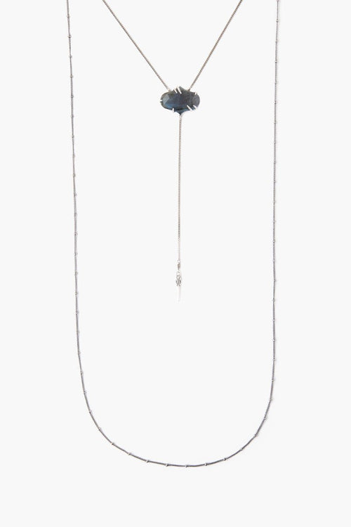 Pronged Labradorite Layered Necklace