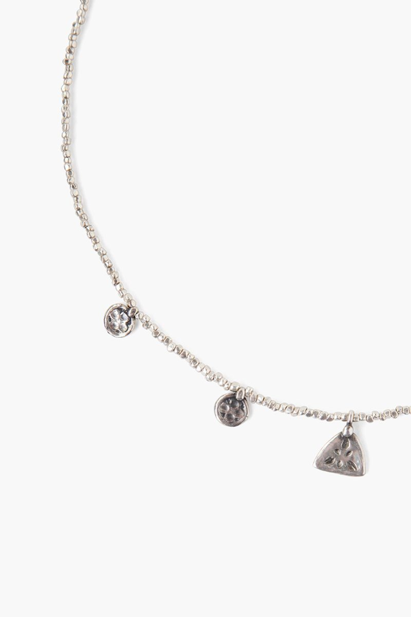 Silver Squash Blossom Charm Necklace