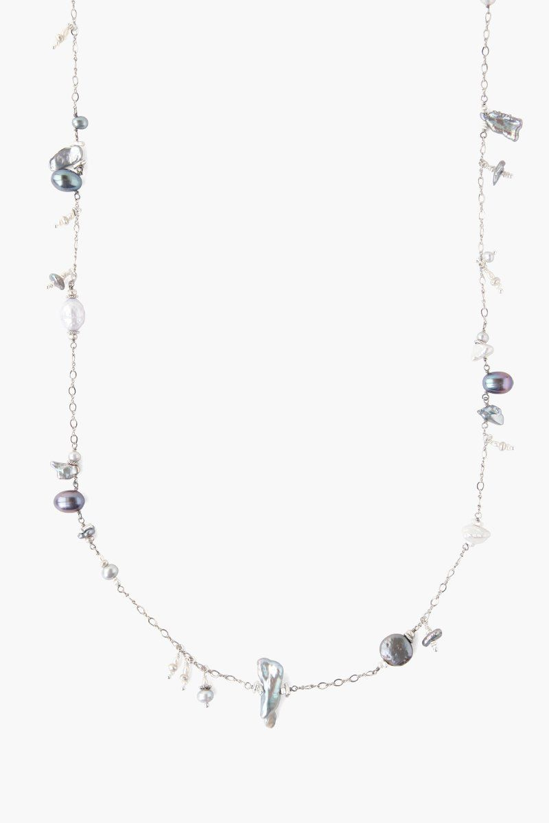Grey Pearl Mix Santa Maria Long Necklace